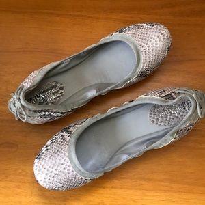 Cole Haan Snakeskin Ballet Flats